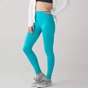 Lululemon Teal Zoned In Tights Size 8